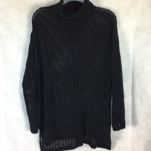 ELIE Tahari chenille black sweater Size small